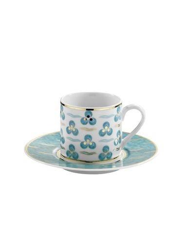 Kütahya Porselen Çintemani 9728 Desen Kahve Fincan Takımı Renkli